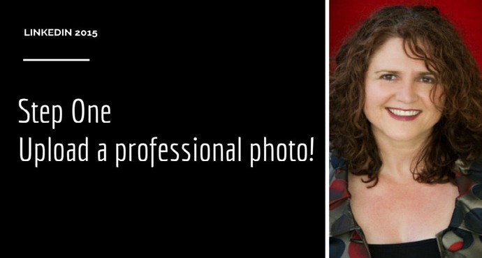 Step 1 Upload a professional photo on Linkedin