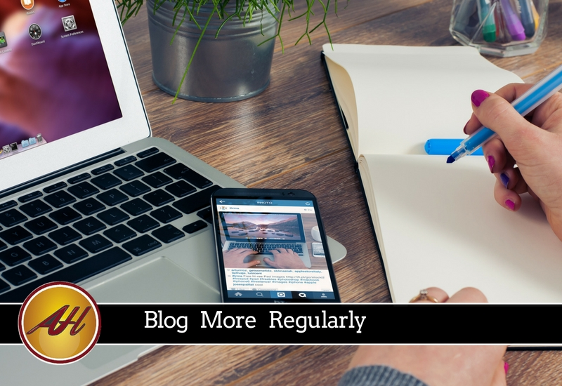 Blog More Regularly - Amanda Hoffmann