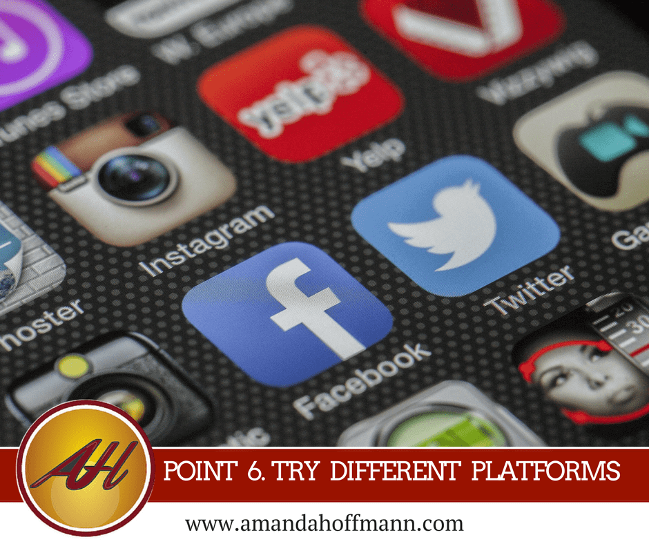 use different social media platforms